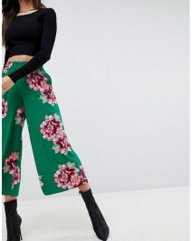 ASOS Cropped Wide Leg in Floral Print 1