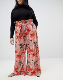 Lost Ink Wide Leg Blossom Print
